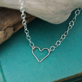 Heart Anklet in Sterling Silver