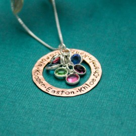 Copper & Birthstones Mother Necklace