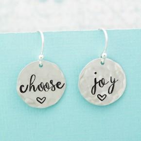 Choose Joy Sterling Silver Earrings
