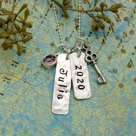 Vintage Skeleton Key Charm Necklace -  Perfect for Graduation