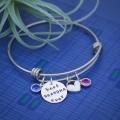 Best Grandma or Mommy Ever Bangle Bracelet