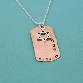 Boy's Star of David Necklace in Copper or Brass
