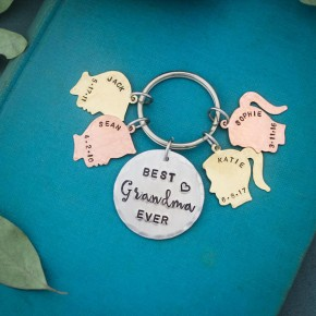 Silhouette Keychain for Mom or Grandma