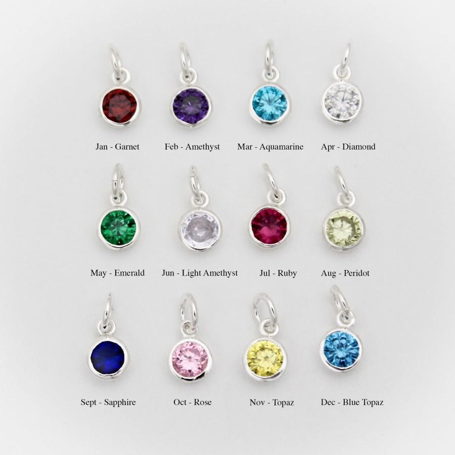 Birthstone Earrings Ideas: Birthstone & Initial Bracelet In Sterling Silver