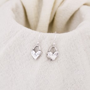 Cute Heart Earrings in Sterling Silver