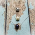 Floating Pearl Solitaire Necklace