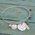 You Are My Sunshine Personalized Bangle Bracelet