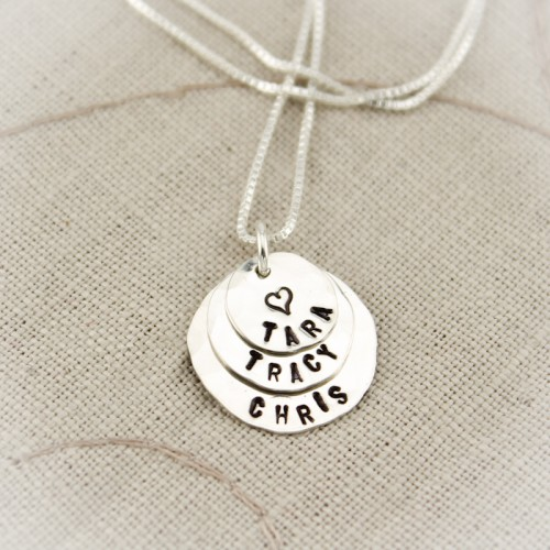 Tiny Layers of Love Necklace