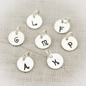 Tiny Sterling Silver Initial Charms