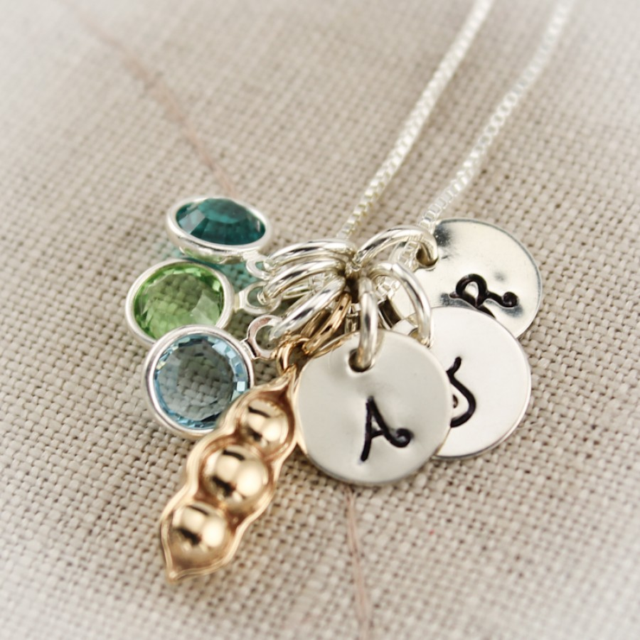 Peas In A Pod Charm Necklace Custom Necklace