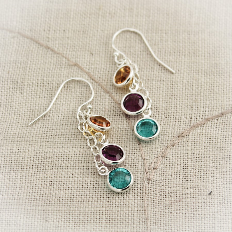 Mother Or Grandmother Birthstone Earrings Earrings