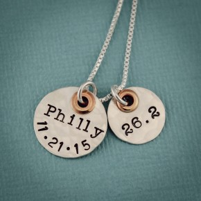 Personalized Running Marathon Necklace