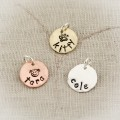 Petite Name Charms in Copper and Brass