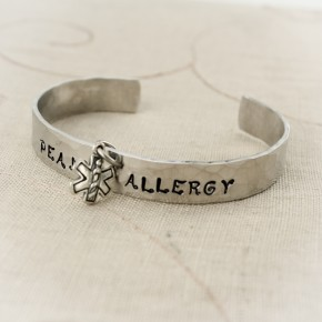 Medical Alert Bangle Bracelet with Charm