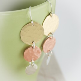I See Spots Mixed Metals Dangle Earrings