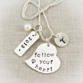 Follow Your Heart Graduation Gift Necklace