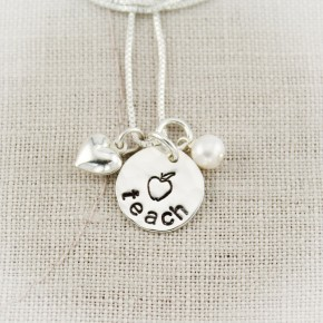 Teacher Charm Necklace