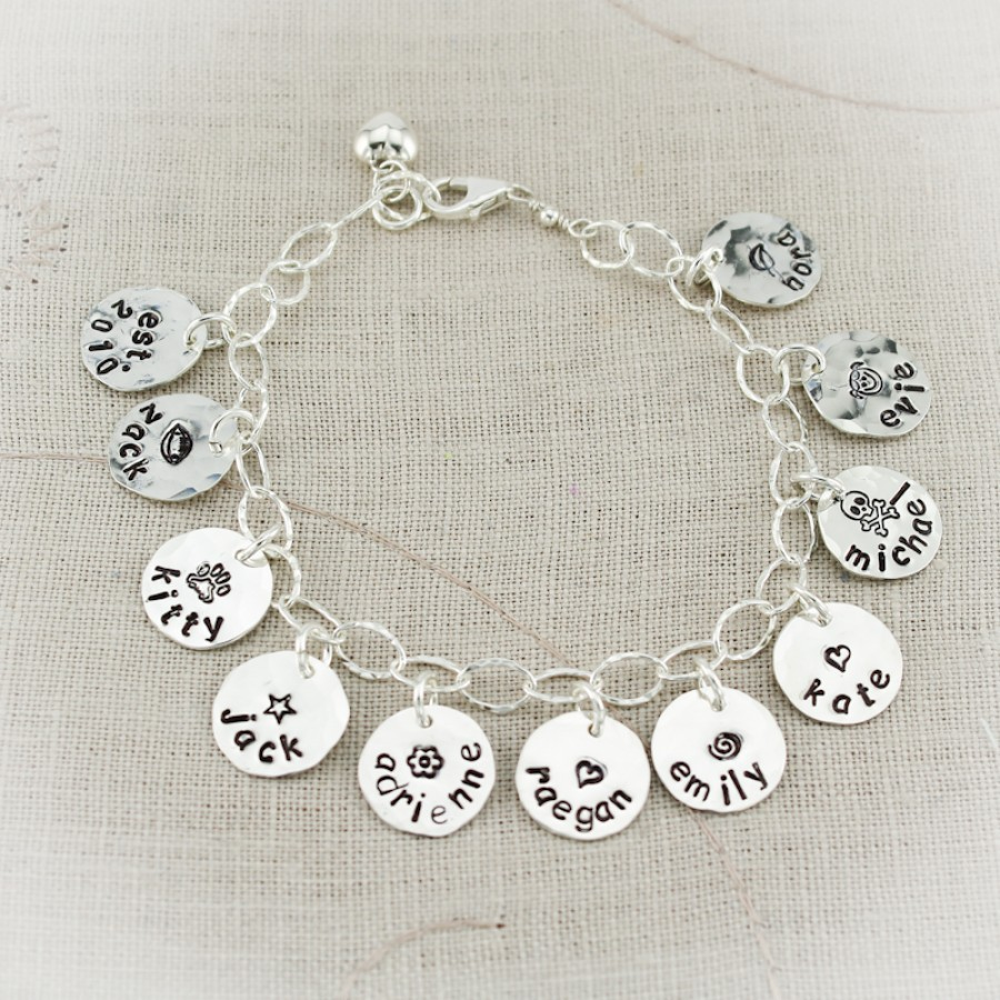 Name Charm Bracelet With Sterling Silver