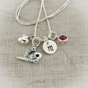 I Love Art Charm Necklace