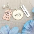 God Gave Me You Monogram Family Necklace