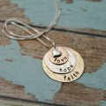 Personalized Layered Mother or Grandmother Necklace In Precious Metals