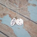 I TRI Swim Bike and Run Triathathon Necklace