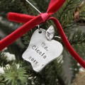 Personalized Apple for the Teacher Christmas Ornament