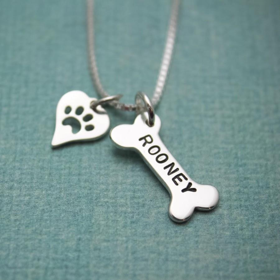 Dog bone charm necklace necklace dog bone charm necklace aloadofball Images
