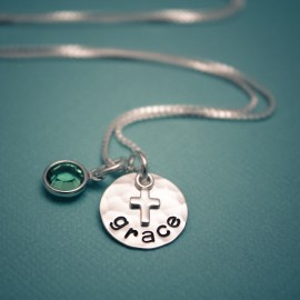 Tiny Cross Confirmation Necklace