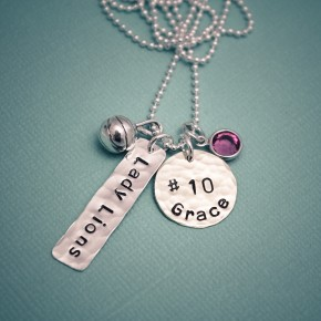 Sports Theme Necklace with Name