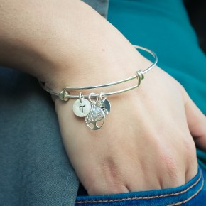 Family Tree Bangle in Sterling Silver