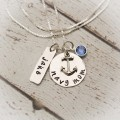 Navy or Army Mom Necklace