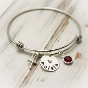 Have Faith Bangle Bracelet