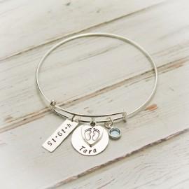 Bundle of Love New Baby Bangle Bracelet