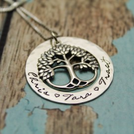 Lovely Sterling Silver Tree of Life Necklace