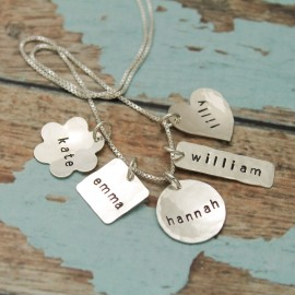 Lovely Charms Necklace in Sterling Silver