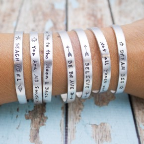Personalized Cuff Bracelet - Mantra Cuffs