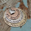 Lots of Layers of Love Grandmother or Mother Necklace in Precious Metals