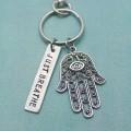 Breathe Hamsa Keychain