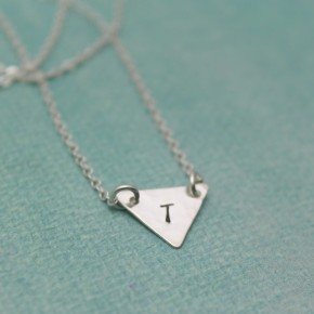 Geometric Triangle Personalized Necklace