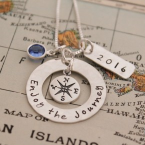 Enjoy the Journey Compass Necklace