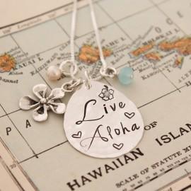 Live Aloha Hawaiian Charm Necklace