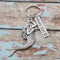 Beach Girl Mermaid Keychain