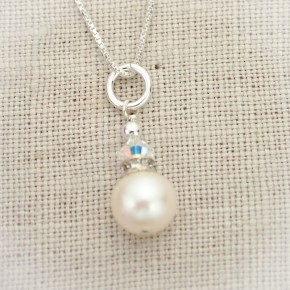 Classic Pearl Solitaire Necklace