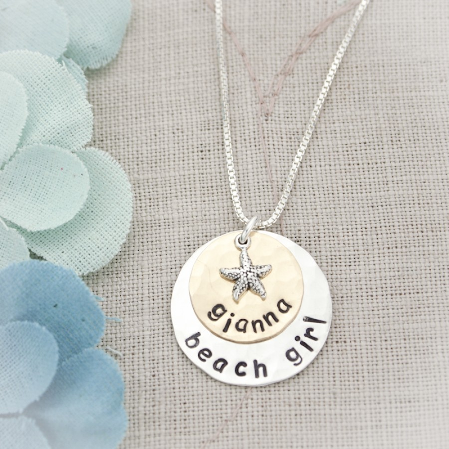 6fb8d5340eeac Personalized Beach Girl Necklace | Necklace