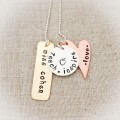 Love Teach Inspire Tag Necklace