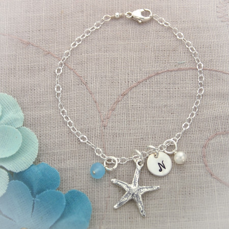 Sterling Silver Starfish Anklet Anklet