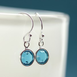 Dainty Birthstone or Pearl Earrings