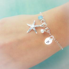 Sterling Silver Starfish Bracelet