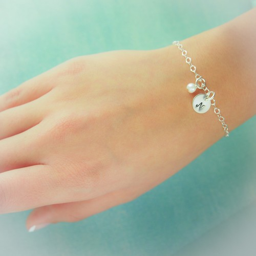 Sweet and Simple Initial Bracelet